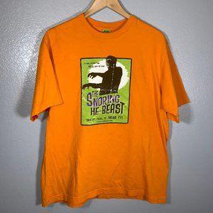 Vintage Halloween Snoring He Beast Orange Tee